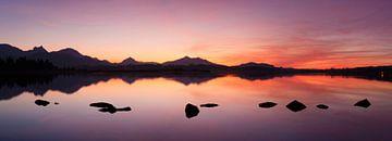 Sonnenuntergang am Hopfensee, Allgäu von Markus Lange