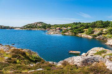 Paysage sur l'île de l'archipel de Skjernøya en Norvège