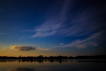 Sunset at Rijkerswoerdse Plassen Arnhem von Robert Wiggers