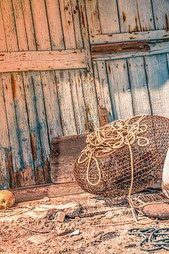 Alte Fischernetzfalle in Griechenland. von Tonny Visser-Vink