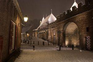 Koppelpoort in een winternacht