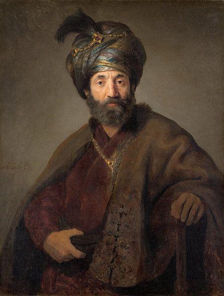 Rembrandt, Man in Oriental Costume van Diverse Meesters