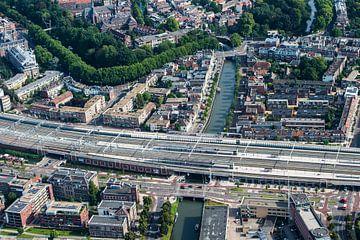 Westerkade, Oosterkade en station Vaartsche Rijn  in Utrecht van De Utrechtse Internet Courant (DUIC)