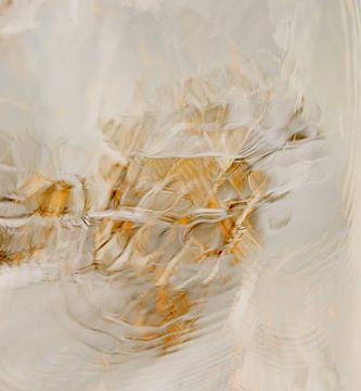 Spiegeling van boom in water - vogel abstract - impressionisme van John Quendag