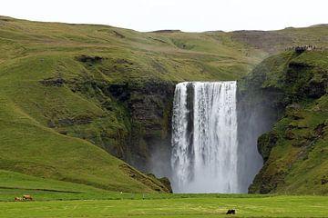 Skogafoss Waterval in IJsland van Johan in 't Holt