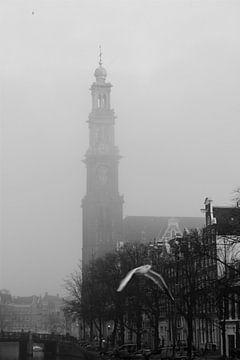 Amsterdam / Prinsengracht en Westertoren van Marianna Pobedimova