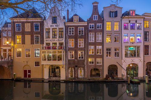 Avondsfeer Utrecht huizen Lijnmarkt Oudegracht