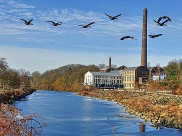 die alte Ölmühle an der Ruhr van Edgar Schermaul