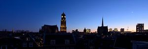 Skyline Utrecht met Domkerk en Domtoren van Donker Utrecht
