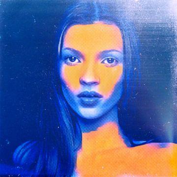 Motiv Kate  Portrait Moss Deep Water Blue - 8 Colours sur Felix von Altersheim