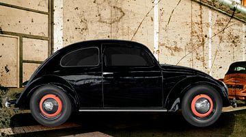 VW originele kever uit 1949 in origineel zwart van aRi F. Huber