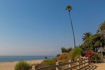 Santa Monica boulevard en strand van Peter Leenen
