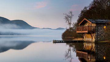 Morgendämmerung am See von Jimmy Sorber