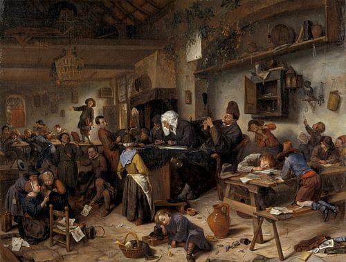 Jan Steen. Een school voor jongens en meisjes van 1000 Schilderijen