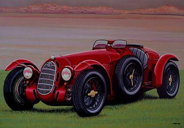 Alfa Romeo 8C 2900A Botticella Spider 1936 Schilderij van Paul Meijering