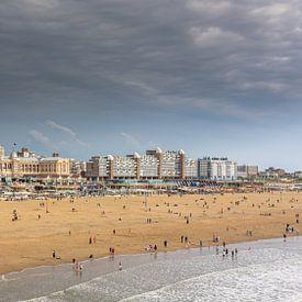 Panorama strand Scheveningen van Patrick Herzberg