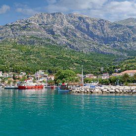 Urlaubsort Baska Voda an der Makarska Riviera von Peter Eckert