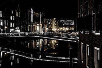 Leiden op zijn mooist! Catherinabrug Leiden! sur Dirk van Egmond