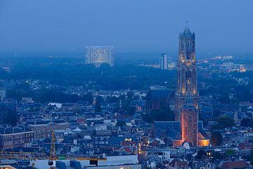 Binnenstad van Utrecht met Domtoren, Domkerk en Buurkerk, foto 1 van Donker Utrecht