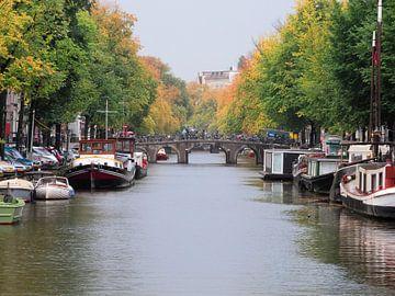 Herfst in Amsterdam von Wiljo van Essen