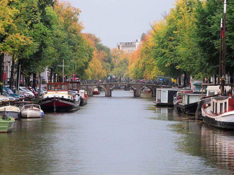 Herfst in Amsterdam van Wiljo van Essen