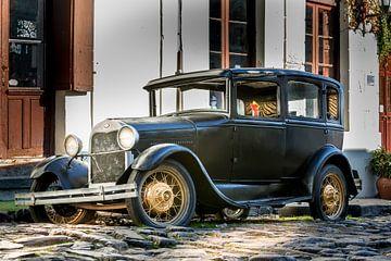 Oude Ford in de straat Uruguay van