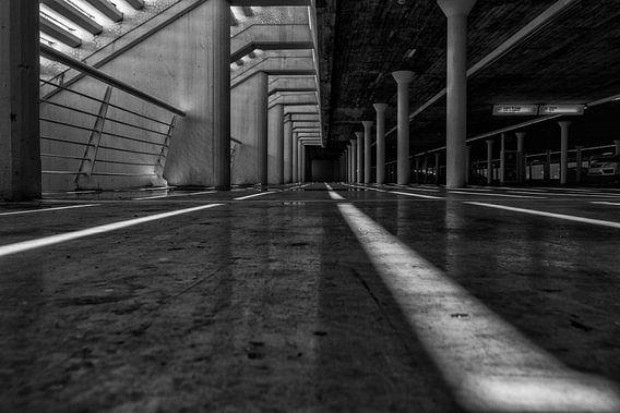 Parking Lines zwart/wit van Bert Meijer
