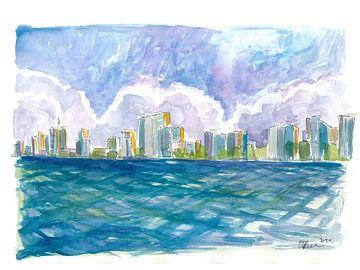 West Palm Beach Florida Uitzicht vanaf de Oceaan van Markus Bleichner