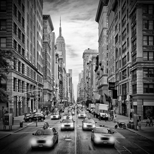 NYC 5th Avenue | Monochrom von Melanie Viola