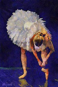 Ballerina tithening Shoe