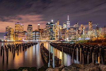 New York skyline van Chris van Es