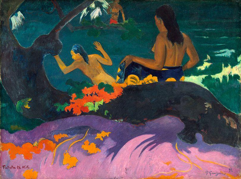 Fatata te Miti (Bij de zee), Paul Gauguin