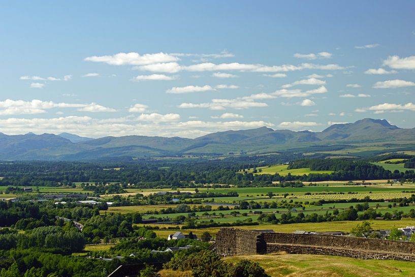 Uitzicht over de stad Stirling in Schotland. van Babetts Bildergalerie