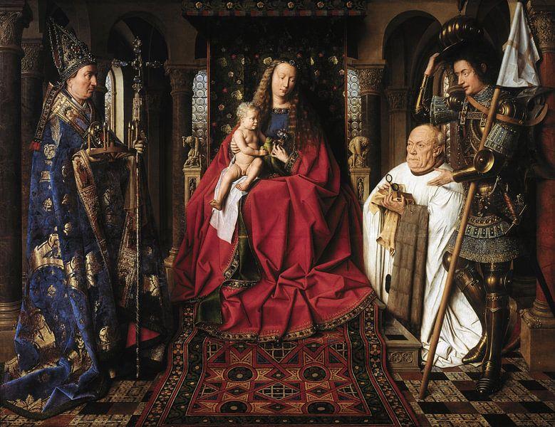 Jan Van Eyck - Aanbidding van Maria van 1000 Schilderijen