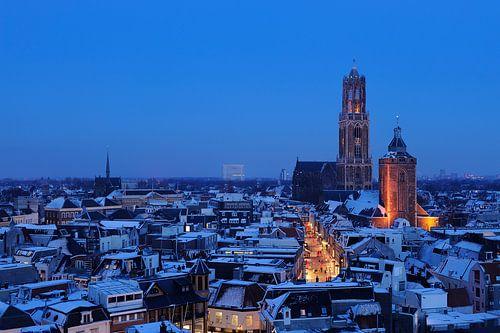 De binnenstad van Utrecht in de winter van