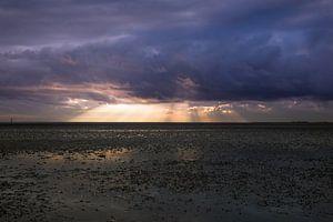 Prachtige luchten op het Wad van Sander Meijering
