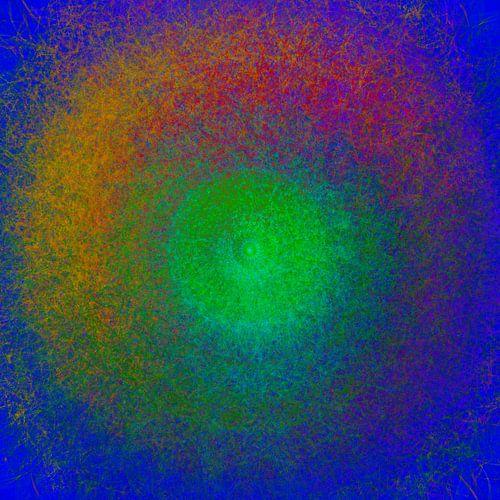 Cercle couleur, mandala sur Rietje Bulthuis