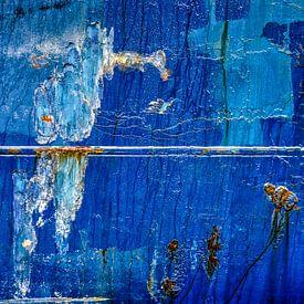 Coque blue avec rouille et soudure sur Frans Blok