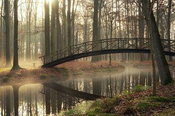 Brücke über unruhiges Wasser von Martin Podt