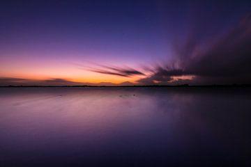 Zonsondergang aan het Dannemeer, Roegwold van Ronnie Schuringa