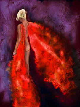 Frau in Flammen van Lana Schulz