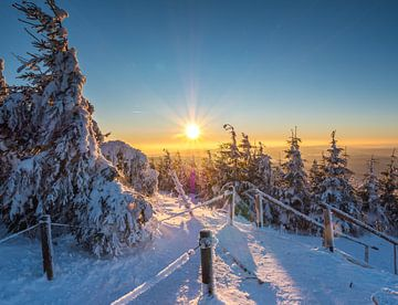 Winterliche Landschaft im Erzgebirge von Animaflora PicsStock