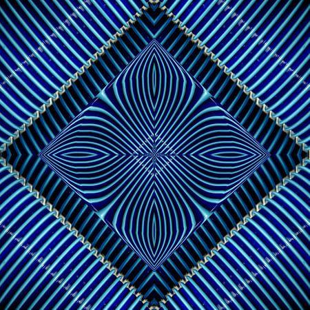 fotoGrafiek 83 (Blue cups) van Hans Levendig