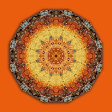 Mandala - Colors of Rust, Rust-Art van Barbara Hilmer-Schroeer
