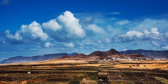 Zicht op het dorpje Soo, Lanzarote