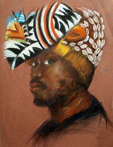 Ein stolzer afrikanischer Mann.