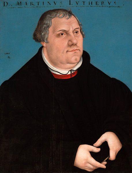 Lucas Cranach Porträt von Martin Luther von 1000 Schilderijen