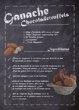 Dessert Recept:  Chocoladetruffels van JayJay Artworks