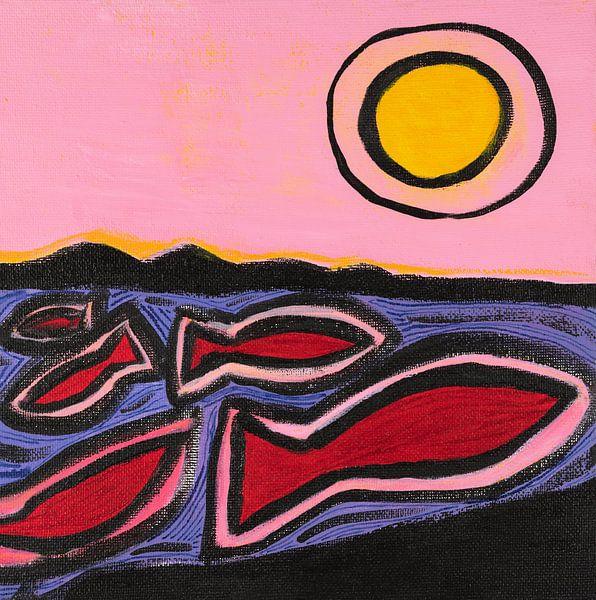 vissen en de zon (2) van Verbeeldt