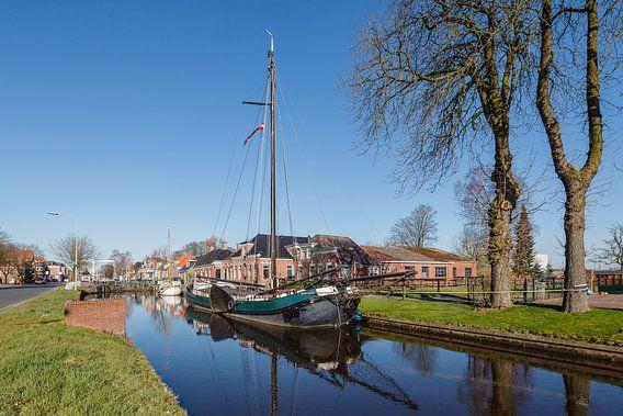 Oude Tjalk in veendorp Wildervank, Groningen, Netherlands